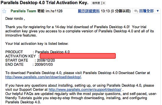 圖解Parallels Desktop 入門(1-6) @ Rondo's Cache :: 痞客邦::
