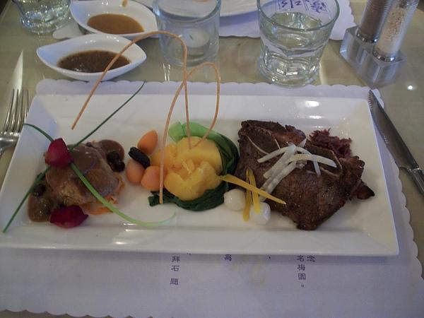 情人節特餐-牛排,鵝肝