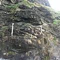 石頭上有個天然的 1 (90度的)