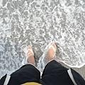 腳丫子被海水沖過去的感覺真好
