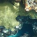 珊瑚礁下面的世界,往下大概可以到七八公尺深吧