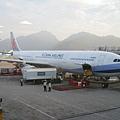 抵達香港後,剛好可以看到我搭的華航飛機