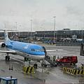 荷航前往Trondheim的飛機,福克100目前我搭過最小的飛機