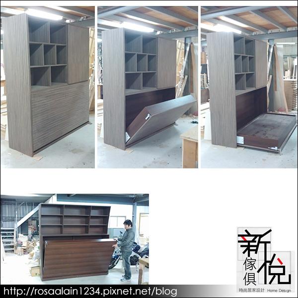 新悅家具廠-鋼烤系列-壁式收納掀床-2