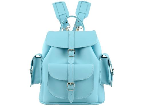 Grafea_SKY_Light_Blue_Leather_backpack