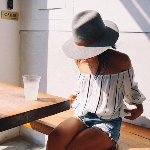 cutoffs-stripes-off-the-shoulder-shirt-hat-beach-lake-jetsetter-via-theyallhateus.jpg