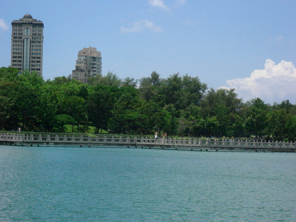 天氣好到不行,湖面有一點點漣漪圈圈