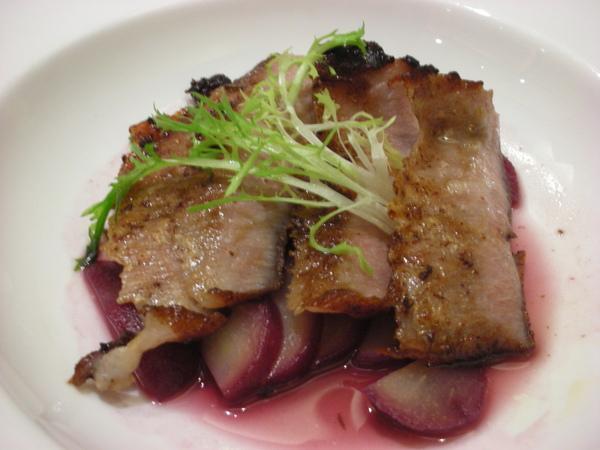 松阪豬肉搭紅酒sause