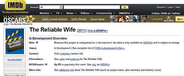 可靠的妻子電影版權