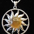 黃玉髓太陽項鍊