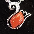 紅珊瑚天鵝項鍊