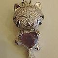 紫玉髓貓咪項鍊
