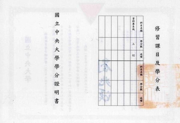 03B 中央大學資訊系學士學分班學分證書(背面).jpg