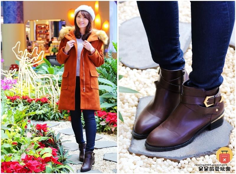 D+AF交叉釦環金屬鞋跟短靴金屬飾條更顯質感