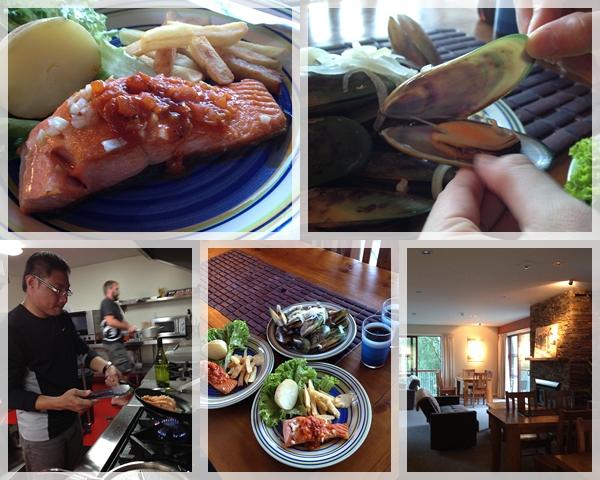 120125晚餐 - 鮭魚&淡菜大餐