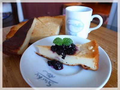 優格起司蛋糕+藍莓醬