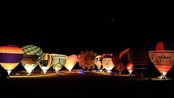 台東。2014熱氣球嘉年華光雕音樂會
