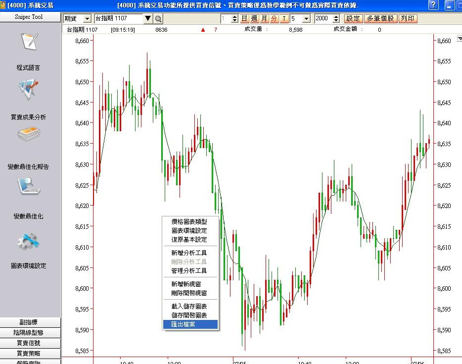 匯出EXCEL、日盛期貨、元大期貨、群益期貨