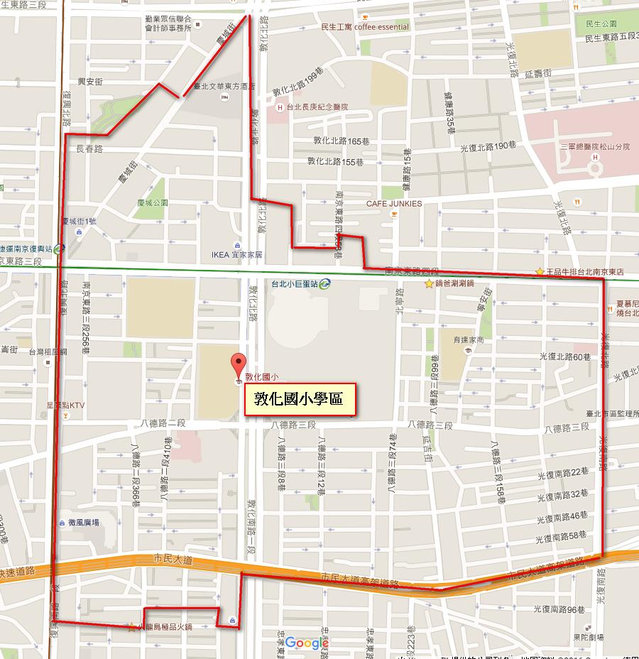 敦化國小學區地圖