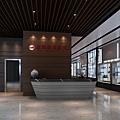 3D實境模擬一樓商旅迎賓大廳、透明玻璃櫥窗與展示架.jpg