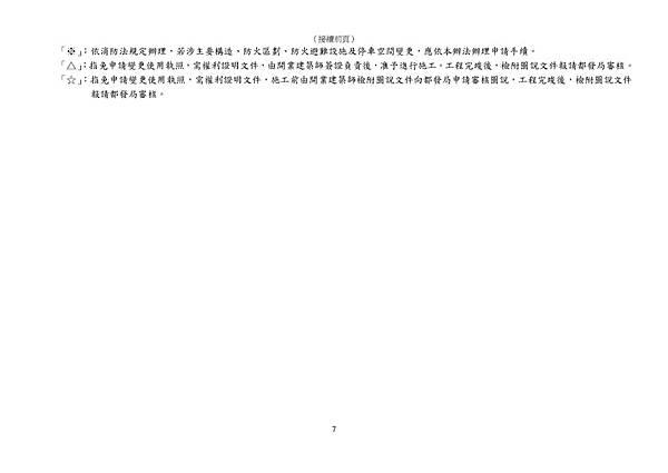 101.11.30.臺北市一定規模以下建築物變更項目及申請程序對照表_頁面_7