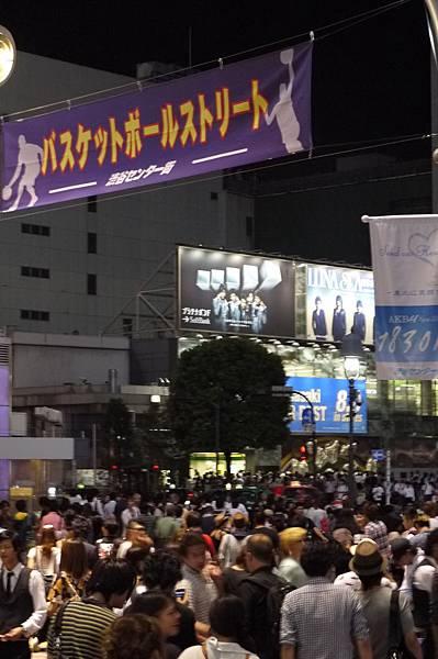 這是將近11點的渋谷了!!!