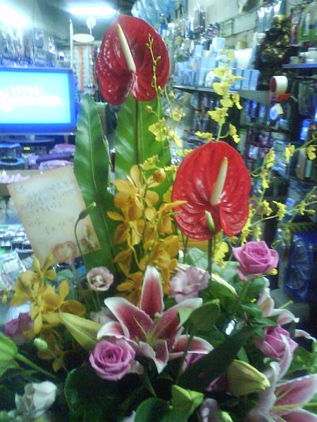 生日老爺送的花