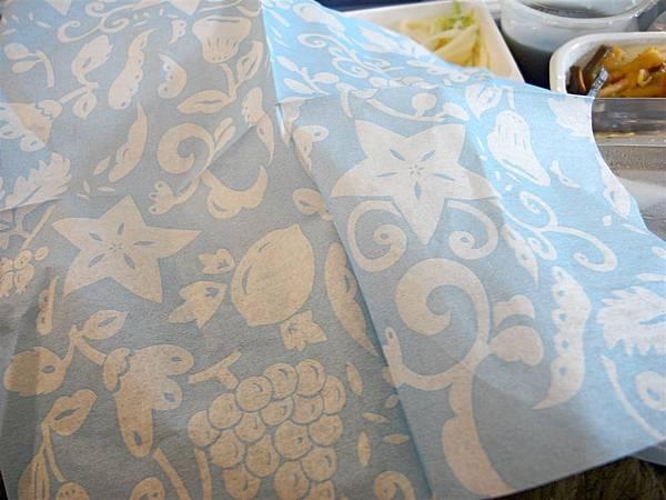 日亞航的餐巾紙很漂亮