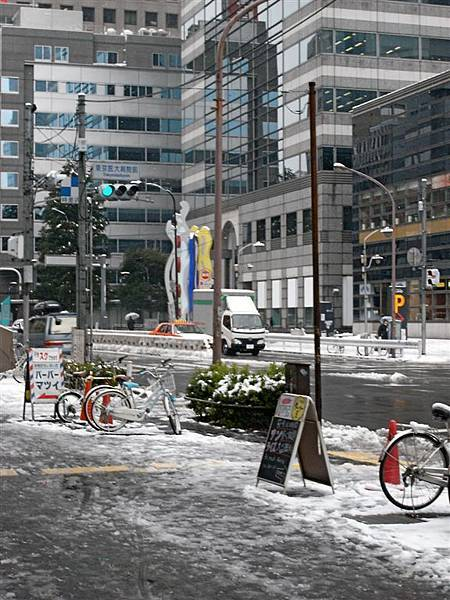據說這是東京兩年來第一場雪