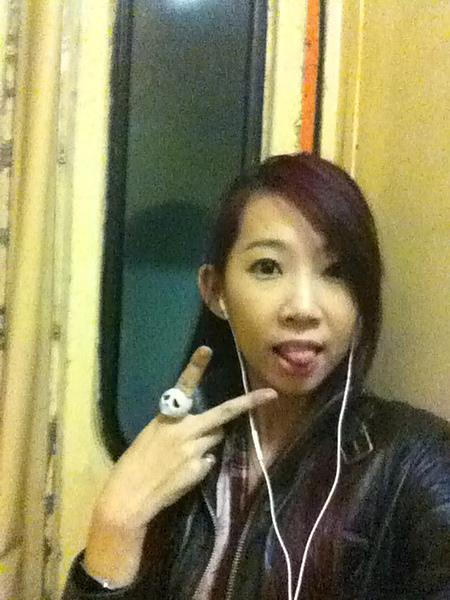 第一次搭火車記念照