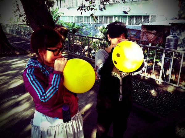 吃氣球會變花栗鼠