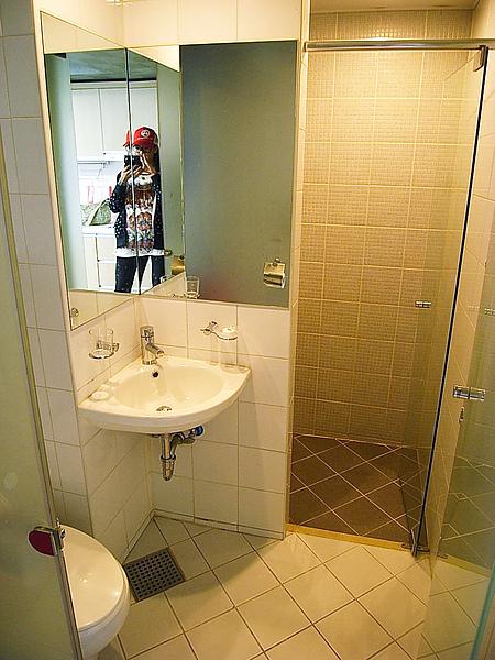 浴室很乾淨有吹風機