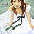 蕾絲公主袖白紗