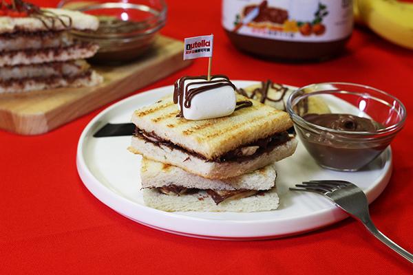 Nutella能多益早餐車創意甜早餐_能多益香蕉帕尼尼.jpg