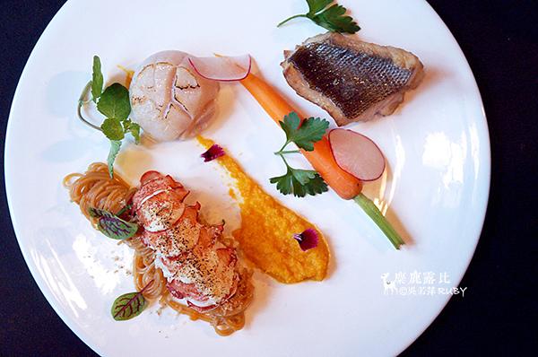 DSC09205龍蝦天使細麵、薑胡蘿蔔調醬、干貝.jpg