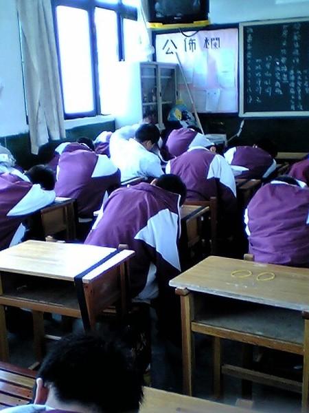 考試沒多久就睡死了
