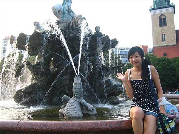 市政廳前的噴水池