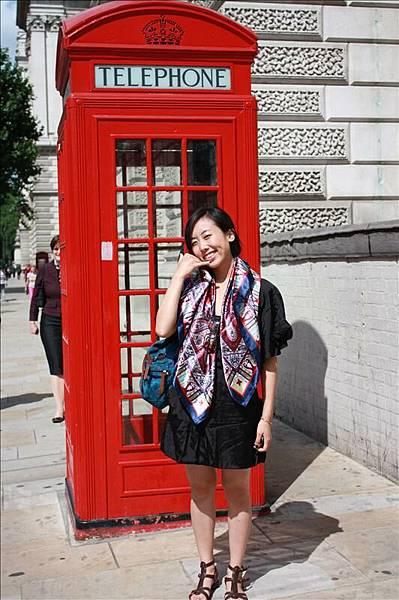 觀光客最愛的紅色電話亭