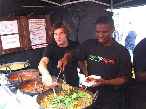跳蚤市場內的非洲菜