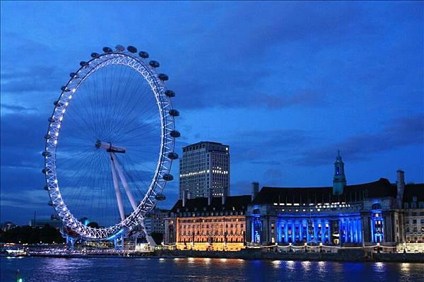 超美的London eye夜景