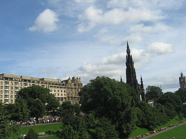 愛丁堡難得好天氣