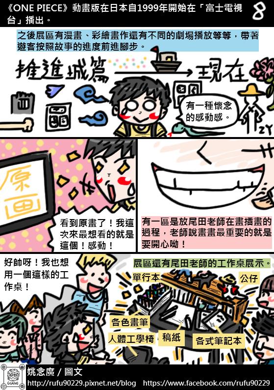 圖文繪遊記之《原画X映像X体感航海王台灣》「ONE PIECE展」篇09