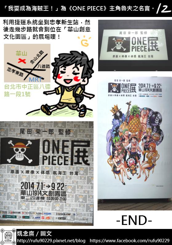 圖文繪遊記之《原画X映像X体感航海王台灣》「ONE PIECE展」篇13