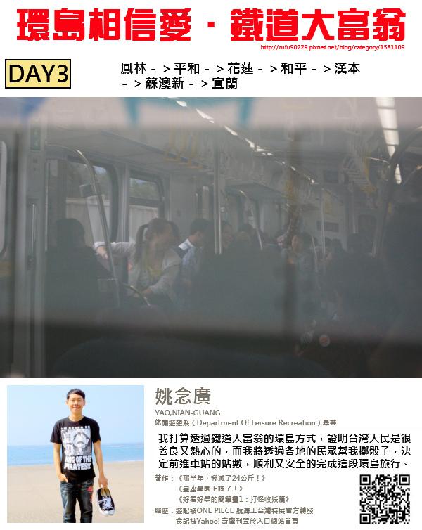 「環島相信愛.鐵道大富翁」DAY3000