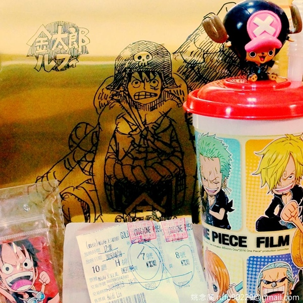只要是尾田老師監製的,朝聖是一定要的!《ONE PIECE FILM GOLD》(́◞౪◟‵)ノシ!!!