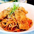 覺得辣味的義大利麵,除了辣的痛覺快感享受以外,更是越吃越開胃呢:d