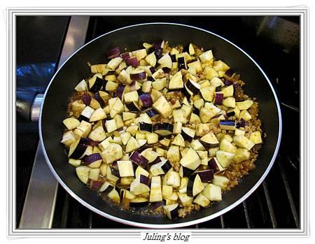 茄子肉醬做法8