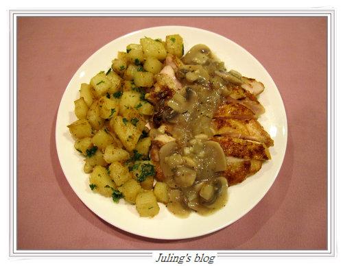 磨菇醬雞排&香煎馬鈴薯