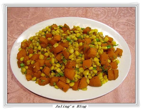 地瓜炒玉米1