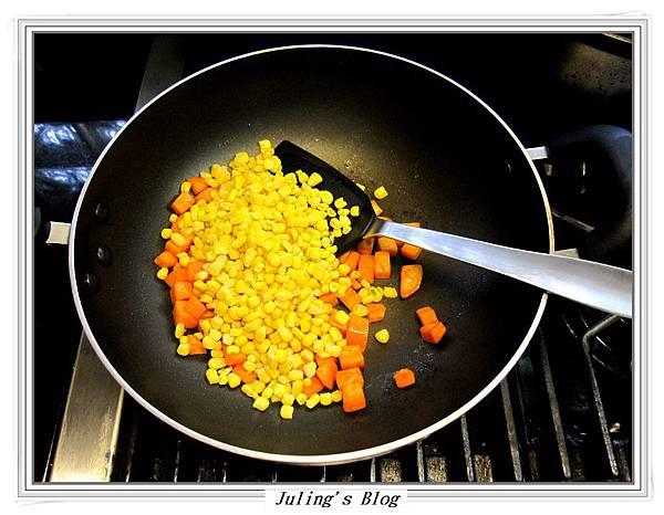 地瓜炒玉米做法4